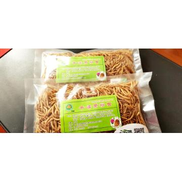 Dry mealworm feed for pet