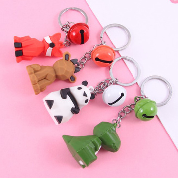 2D 3D cartoon rubber keyring custom shaped-soft-pvc-keychain
