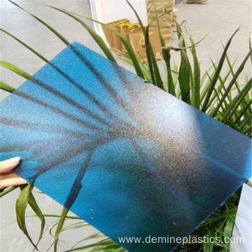 Blue frosted polycarbonate sheet for window and door