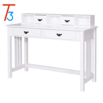 Vanity White Solid Wood Dresser Desk Dressing Table 4 Drawers