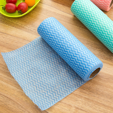 1 Roll Eco-Friendly Non Woven Duster Cloth Dish Cloth Break Point No Oil Rag Furniture items kitchen towels Cleaning wash cloth