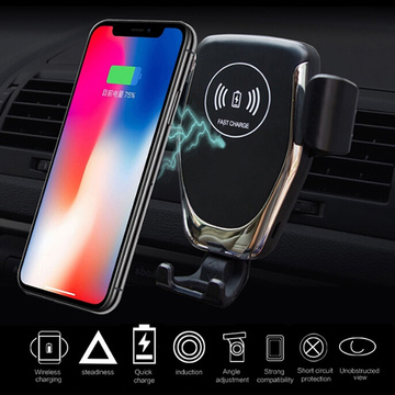 New Arrival 10W Qi Wireless Fast Charger Car Mount Holder Stand Auto Sensor Charging