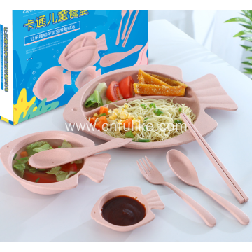 Healthy Wheat Straw Children Tableware Set