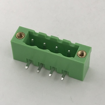 90 degree right angle PCB male terminal block
