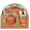 Cute Bamboo Divided Plate Tableware