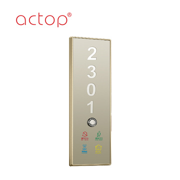 Electronic doorplate with room number House Number Door Plate