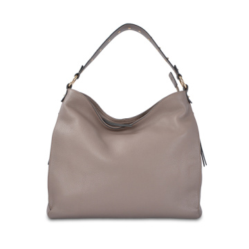 Slouchy Mat Leather Hobo Bag With Regulated Handle