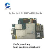 JUN FUN Full Work Original Unlocked Used Mainboard For Sony Xperia Z3+ Z4 Z3Plus E6533 Dual SIM motherboard Logic Circuit Board