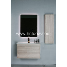 Solid surface embedded basin for cabinet
