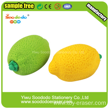Lemon Shaped fancy pencils erasers,novelty office supplies