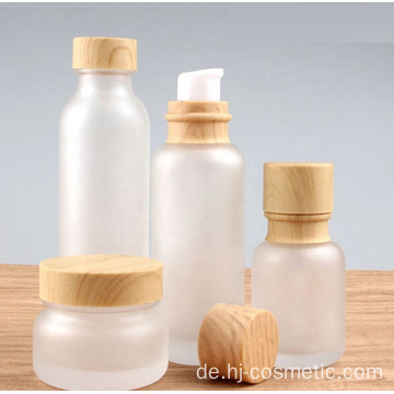 Wholesale empty bamboo cosmetic jars and bottles