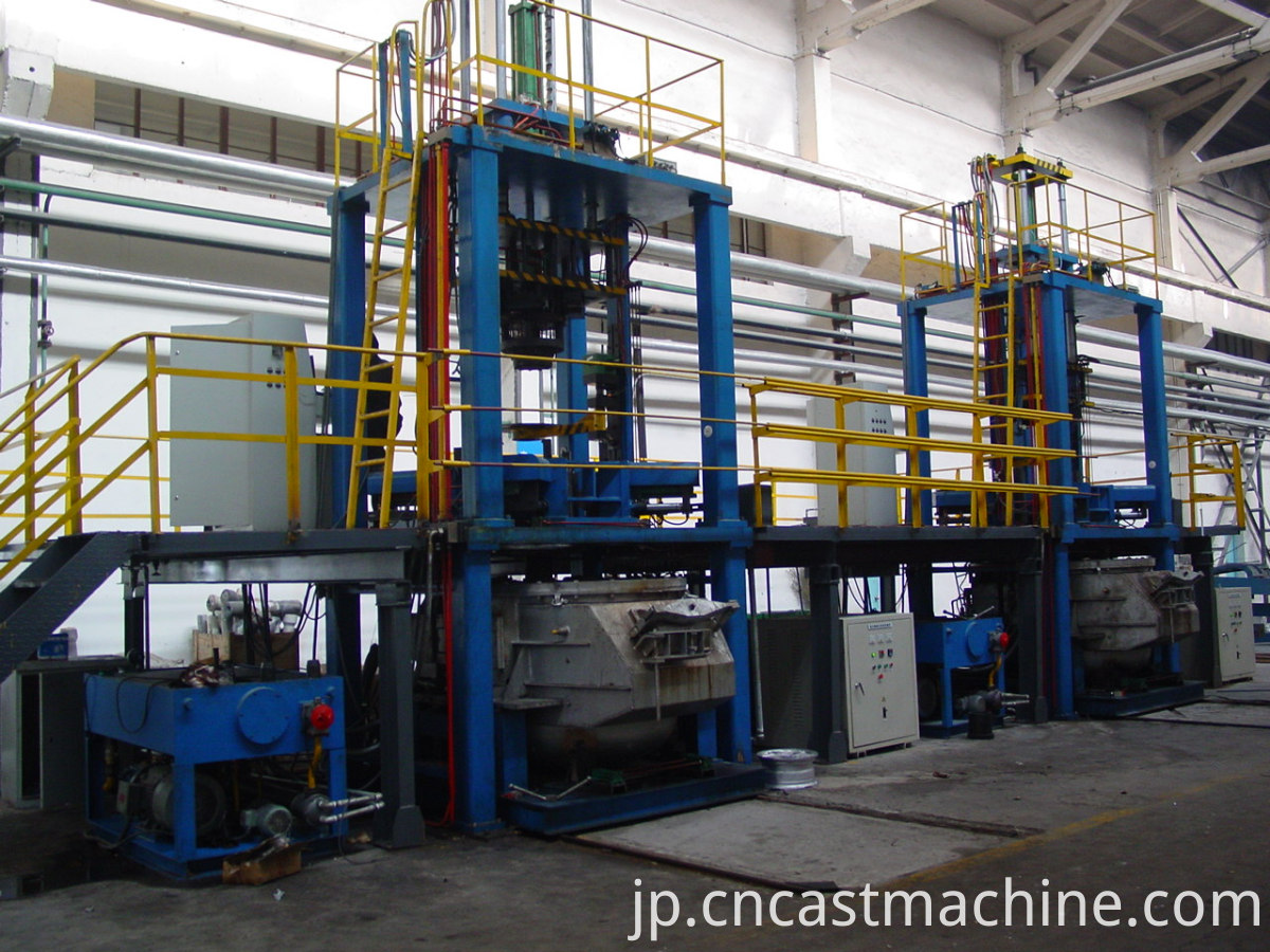 low pressure machines for automatic casting
