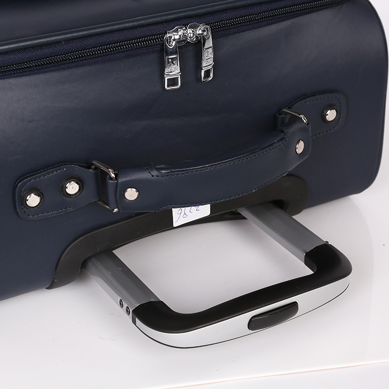 OEM available black PU airport luggage for travel4