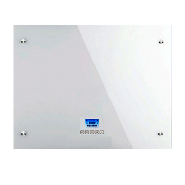 wall Glass Panel Convector White