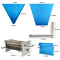 New Update 3-Roller Stainless Steel Barley Malt Mill Grinder Crusher Grain Mill Home Beer Brewing Tools Best Quality Manchine