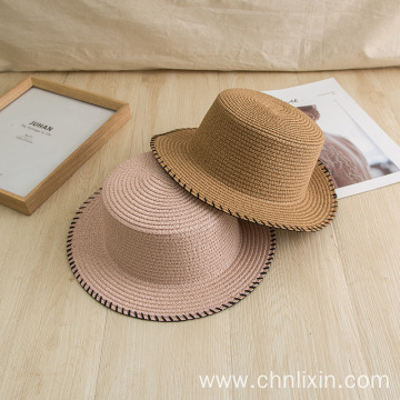 Suitable size straw hat portable summer beach hat
