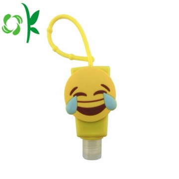 3D Silicone Cartoon Customized Sanitizer Bottle with Holder