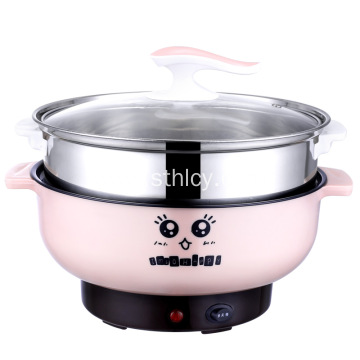 Double Handle Stainless Steel Electric Steamer