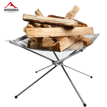 2017 new outdoor stove burning fire low weight 960g portable folding wood stove outdoor heating furnace stainless steel