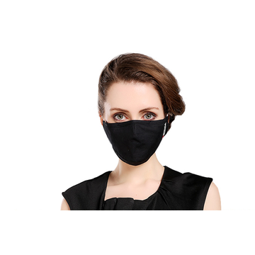 Anti dust black cotton washable face mask