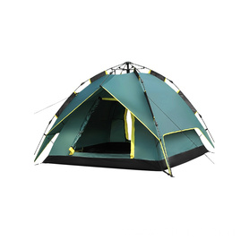Green Color Family Camping Tent Waterproof