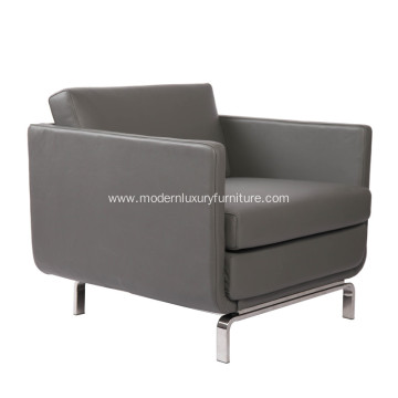 Modern Gaia High-arm Leather Lounge Chair Replica