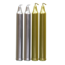 mini unscented color taper candles