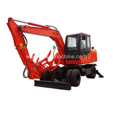 Excavator Machinery 15 Ton Wheel Excavator with Backhoe