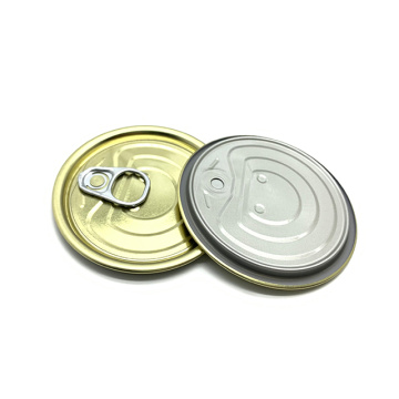 Chrome coated easy open ends for food cans