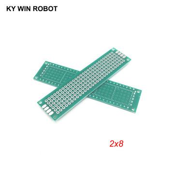 5pcs 2x8cm 20x80 mm Single Side Prototype PCB Universal Printed Circuit Board Protoboard For Arduino