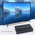 Kebidu 4K Ultra HD Metal Case 4 Input 1 Output KVM Switch HDMI-compatible 2.0 Screen Switcher Shared Keyboard and Mouse