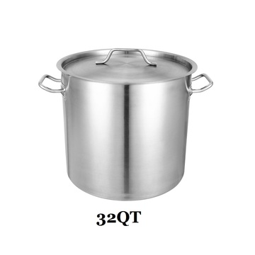 32QT Stainless Steel Stockpot with Lid