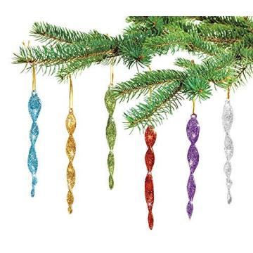 Glass Icicle Hanging Christmas Tree Ornament Christmas Decorations
