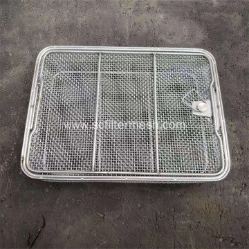 Welded Stainless Steel Wire Basket with Handle