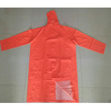 Heavy Duty Worker Plastic PVC/Polyester Hooded Raincoats