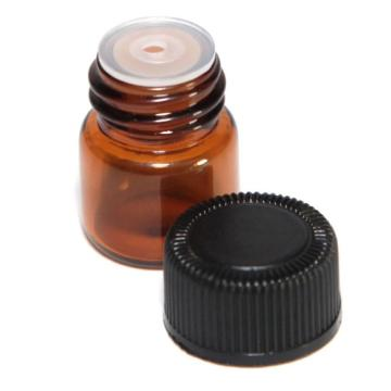 12pc 1 ml Amber Essential Oil Bottle with Orifice Reducer and cap Wonderful2.09