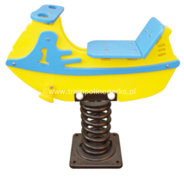 Boat Shape HDPE Spring Riders
