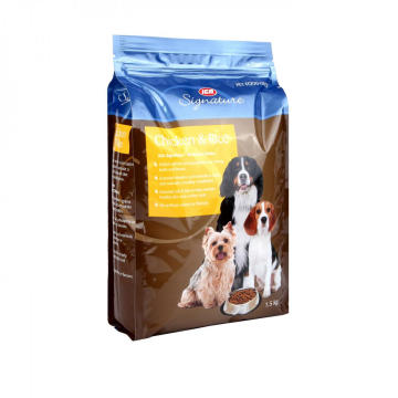 Quad Seal Bag For Pet Food Packaging