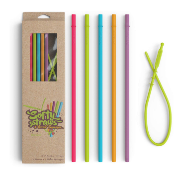 Long Length Replacement Silicone Reusable Straws