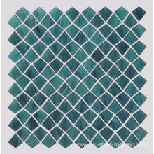 Malachite Green Irregular quadrilateral KIte Shape Glass Mosaic