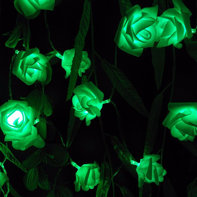rose flower pvc string light