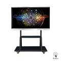 65 Inches UHD Display Panel with mobile stand