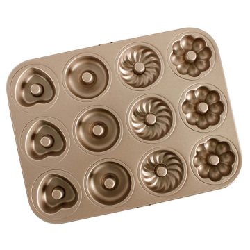 12-Cavity Carbon Steel Non Stick Doughnut Pan
