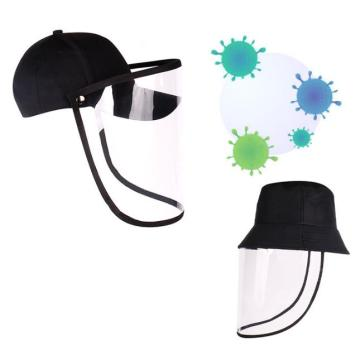 Prevent droplets basketball cap protective mask faceshield