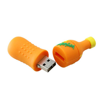 Customized PVC Bottle Shape USB Flash Drive
