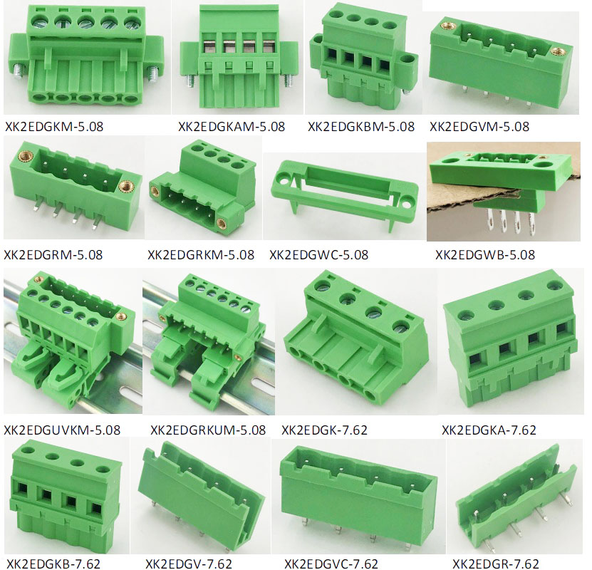 3.81mm pitch double row PCB terminal block