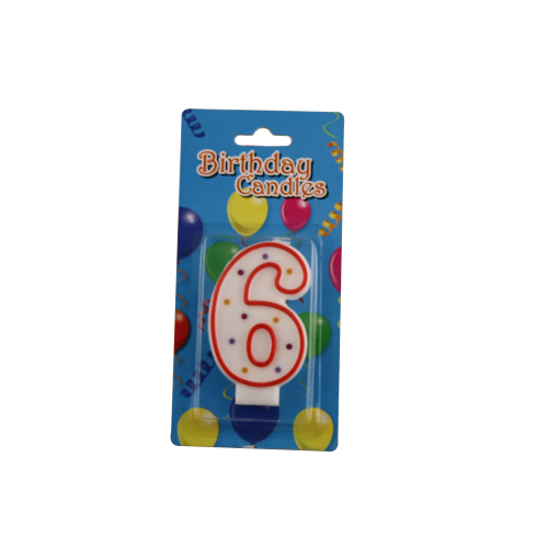 Birthday party number candle
