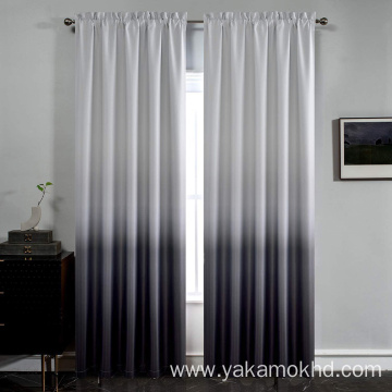 Black Ombre Curtains with Rod Pocket