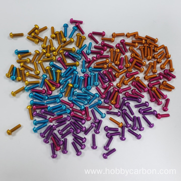 Hobbycarbon M3 Anodized 7075 Aluminum screw for quadcopter