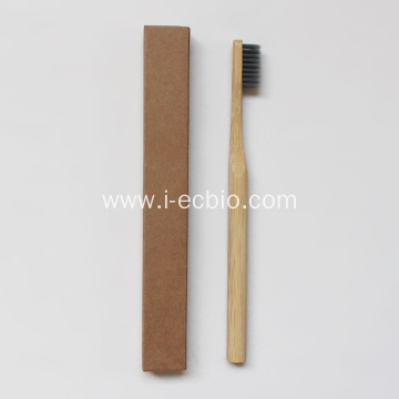 International Certification of High Quality Cylindrical Bamboo Toothbrush